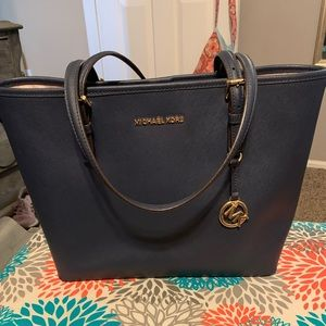 VERY Gently used MK Navy Tote